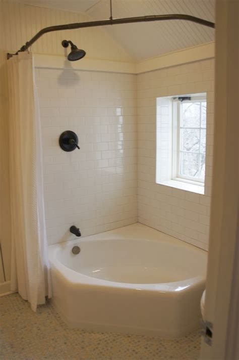 bathtub shower curtain surround corner tub corner tub with shower curtain round the