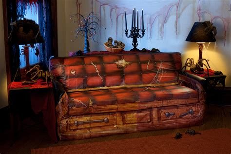 spooky couch spooky scenes coffin couch cover 67394
