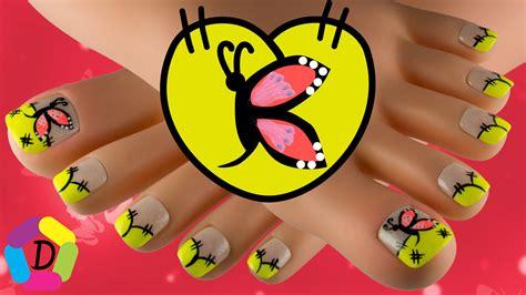 imagenes uñas decoradas libelulas decoracion de u 241 as de los pies con mariposas