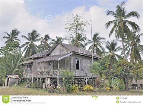 Pinoy House Design traditional rural house in philippines stock photo image
