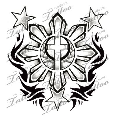 three star and the sun tattoo design 3 and sun flag 3 and sun with maybe