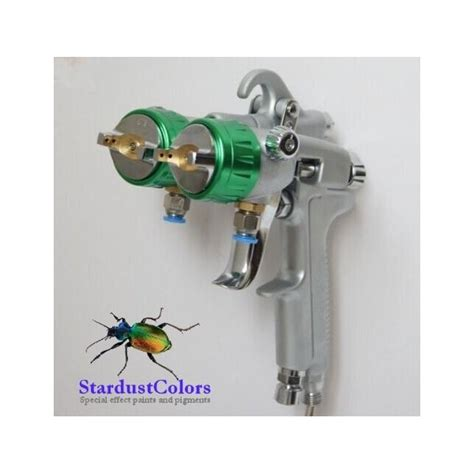 spray paint nozzles dual nozzle chrome paint spray gunproduct in stock