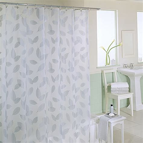 silver shower curtains modern leaf 70 inch x 72 inch silver shower curtain