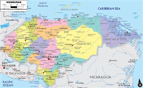 honduras world map honduras world elections