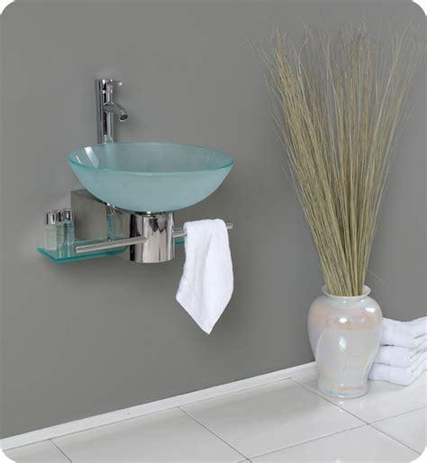 Modern Bathroom Sinks Pictures 17 75 Quot Cristallino Single Wall Mounted Vessel Sink Vanity
