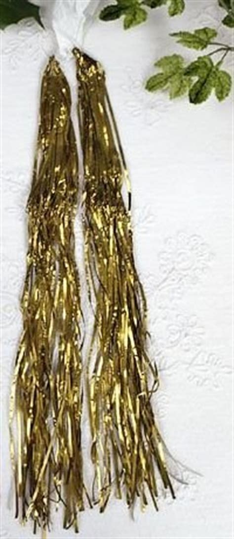 gold lametta lead tinsel icicles heavy metal gold