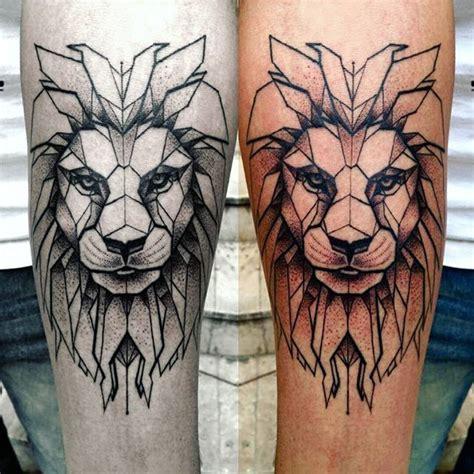 lion geometric tattoo best 25 geometric ideas on
