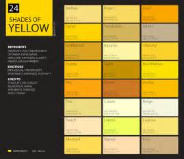 24 shades of yellow color palette graf1x com