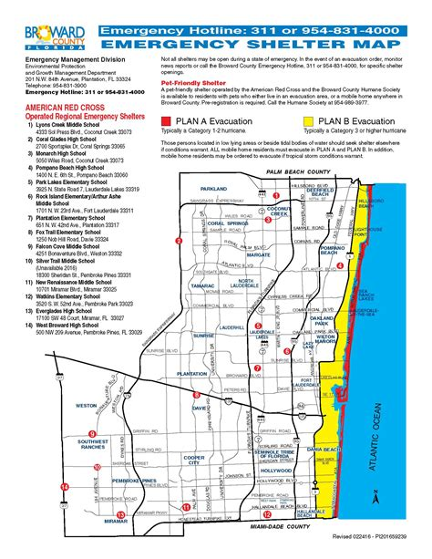 Broward County Search Civil Hurricane Evacuation Map City Of Dania Florida