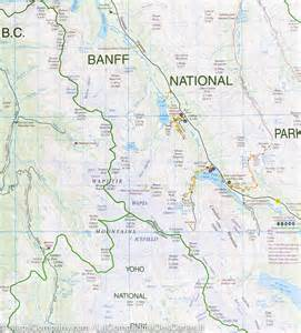 map of bow lake pn banff and jasper alberta gem trek