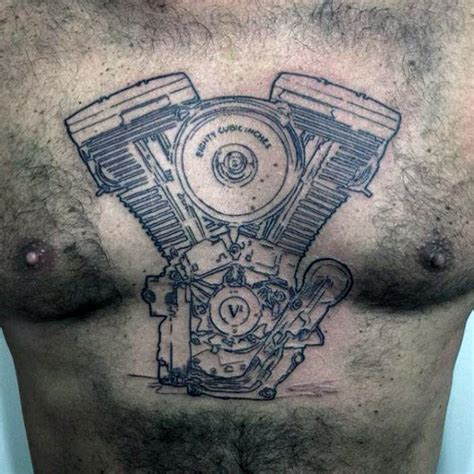 engine tattoo designs 60 motorcycle tattoos for two wheel design ideas