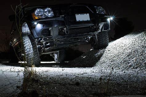 jeep off road lights waterproof off road led rock light kit 8 led rock lights