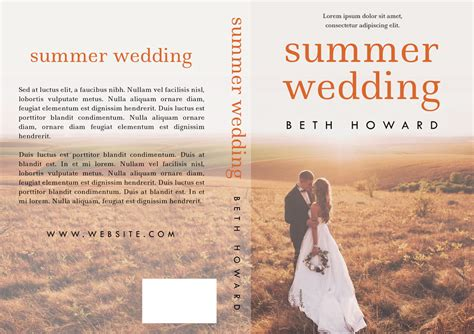 Premade Book Covers Wedding by Summer Wedding Premade Book Cover For Sale