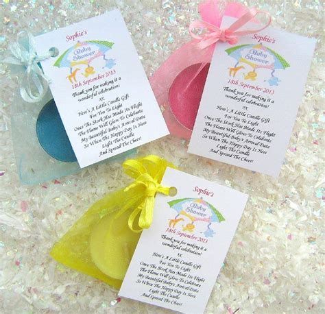 Personalised Baby Shower Favours by 10 Personalised Baby Shower Favours Scented Candles Thank