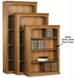 Unfinished Oak Bookcase Traditional Real Oak Bookcases