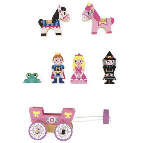 princess mini story 7 pc wooden play set educational toys planet