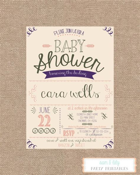Vintage Invitations Baby Shower by Printable Vintage Shabby Chic Baby Shower Invitation