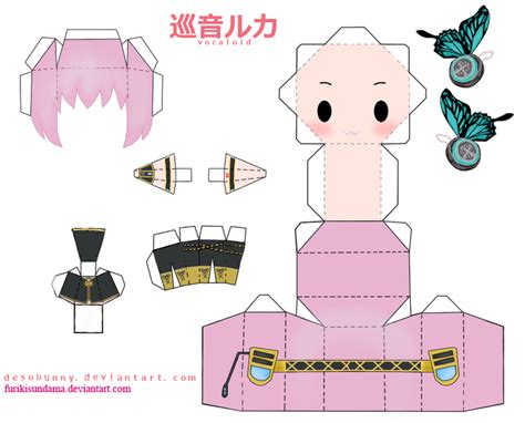 Vocaloid Papercraft - papercraft megurine luki by furikisundama on deviantart