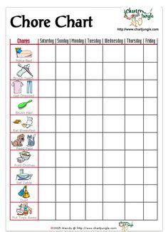 7 Chores I Loathe by 1000 Images About Family On Chore Charts