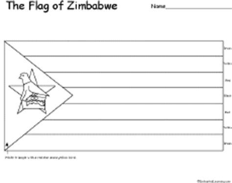 flag of zimbabwe printout enchantedlearning com