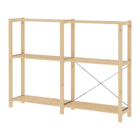 Ikea Pine Shelf ivar 2 sections shelves pine 174x30x124 cm ikea