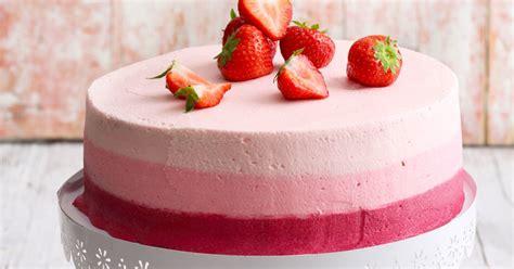 Hochzeitstorte Erdbeer by Erdbeer Ombr 233 Torte Rezept K 252 Cheng 246 Tter