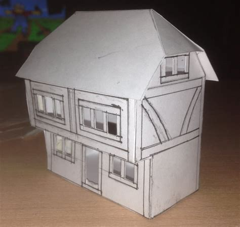 How To Make A House Using Paper - how to make a model house