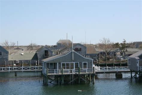 cottages at the boat basin the crows nest is the highest building in this photo the