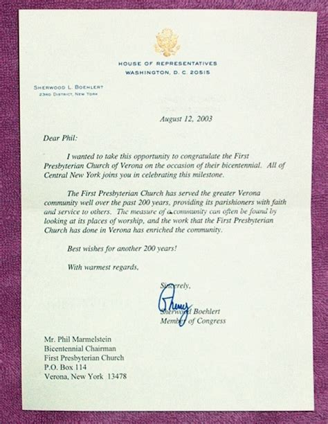 Regret Letter Unable To Attend Event 2003 Bicentennial Schedule