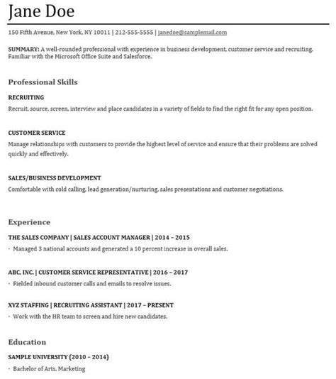 What Is A Functional Resume by Functional Resumes Sles And Tips For Writing A Skills