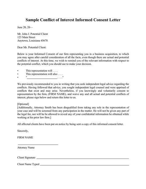conflict of interest declaration template sle letter of interest free documents for