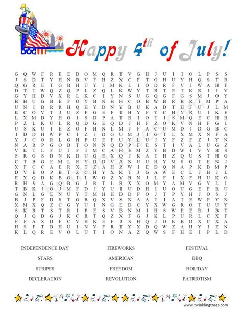 printable word search fourth of july fourth of july word search printable american heritage