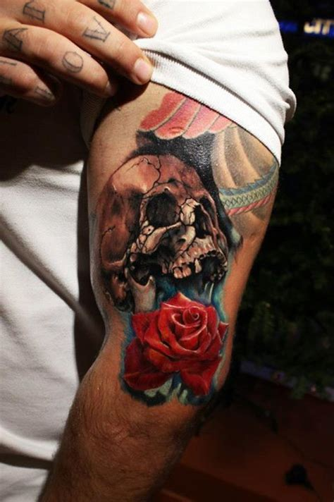 what does a rose and skull tattoo symbolize meaning of skull tattoos makkashop