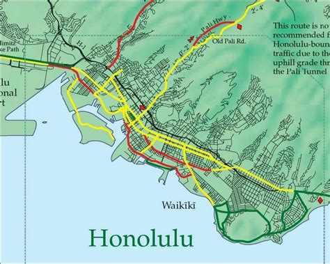 honolulu map honolulu map gallery