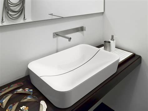 mizu bathrooms mizu rectangular washbasin by scarabeo ceramiche design