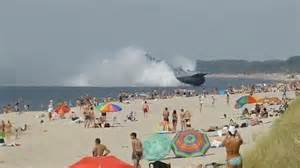 russian beach bizarre moment 550 ton russian hovercraft stuns sun worshippers by landing on their beach
