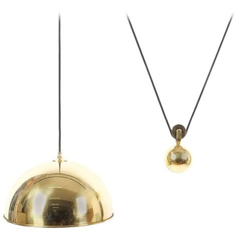 Counterweight Pendant Light Adjustable Refurbished Brass Counterweight Pendant L By Florian Schulz For Sale At 1stdibs