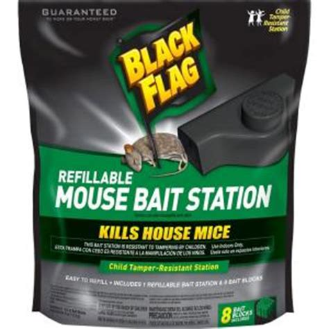 black flag refillable mouse bait station 8 blocks hg