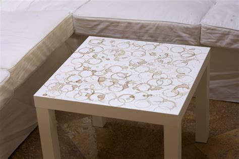 coffee stained coffee table
