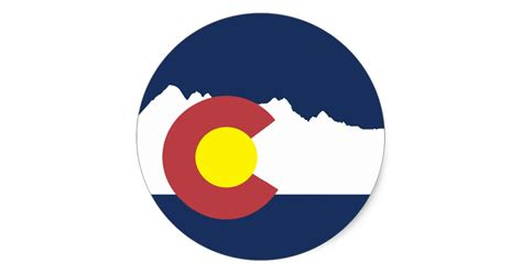 Wall Stickers Create Your Own mountain colorado flag round sticker zazzle com