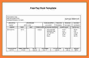 employee pay stub template 9 free pay stub template marital settlements information