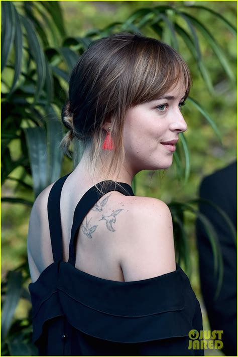 dakota johnson tattoos dakota johnson regrets getting some of tattoos photo
