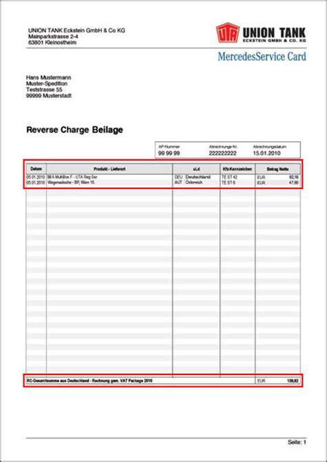 Muster Rechnung Charge Verfahren Die Charge Beilage