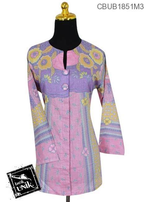 Jilbab Kamboja blus tunik panjang katun motif bunga kamboja blus