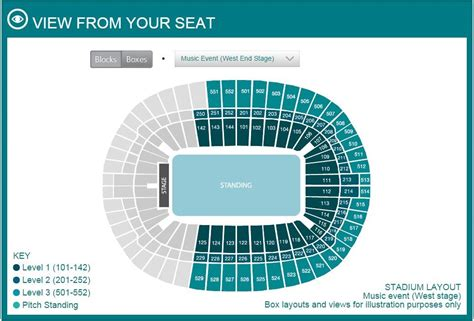 wembley stadium floor plan concert stadium seating layout including unreserved