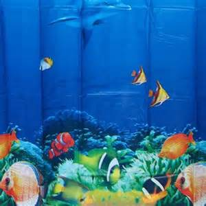 Design bathroom valance tropical fish fabric shower curtain ebay
