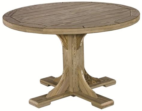 Amish Pine Patio Round Table Outdoor Wood Patio Table