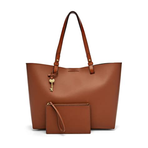 Fossil Tote Bag Leather tote fossil
