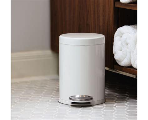 simplehuman bathroom trash can simplehuman 4 5l mini round white steel step trash can