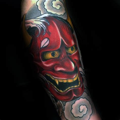 red hannya mask tattoo designs 50 japanese demon tattoo designs for men oni ink ideas